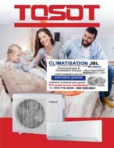 TOSOT CLIMATISATION JBL