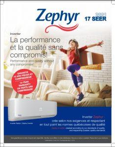 ZEPHYR 17 SEER - Chauffage -20C